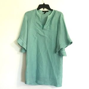 BCBG Max Azria Mint Dress with Bell Sleeves